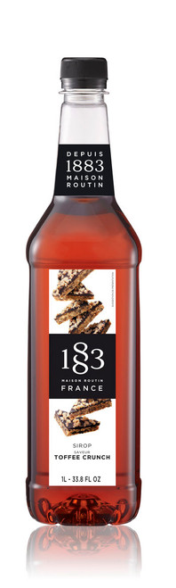 1883 Classic Flavored Syrups - 1L Plastic Bottle: Toffee Crunch