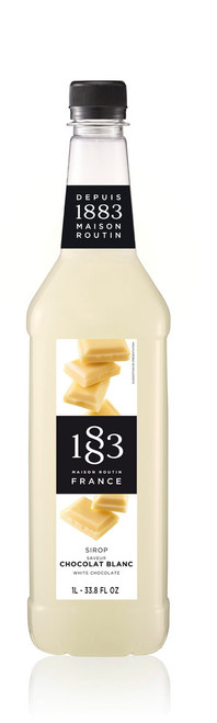 1883 Classic Flavored Syrups - 1L Plastic Bottle: White Chocolate