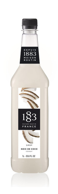 1883 Classic Flavored Syrups - 1L Plastic Bottle: Coconut