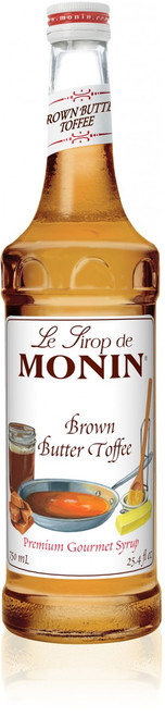 Monin Classic Flavored Syrups - 750 ml. Glass Bottle: Brown Butter Toffee