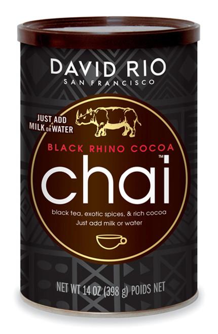 David Rio Chai (Endangered Species) - 14oz Canister: Black Rhino Cocoa