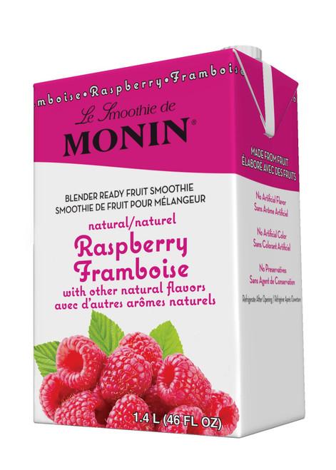 Monin Pour-Over Fruit Smoothies: 46oz Carton: Raspberry