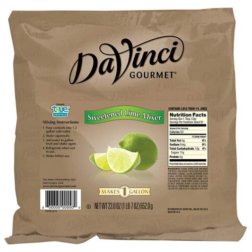 Davinci Gourmet Cocktail Mix - 23oz Bag: Sweetened Lime Mixer