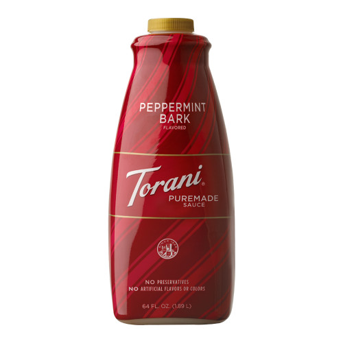 Torani Puremade Peppermint Bark Sauce - 64 oz. Bottle