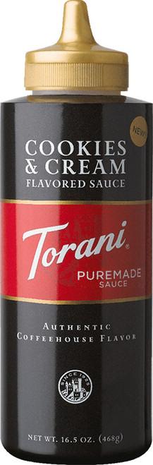 Torani Puremade Cookies & Cream Sauce: 16oz Bottle