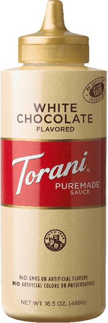 Torani Puremade White Chocolate Sauce: 16oz Bottle