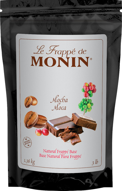 Monin Natural Frappe Base - 3lb Bulk Bag: Mocha