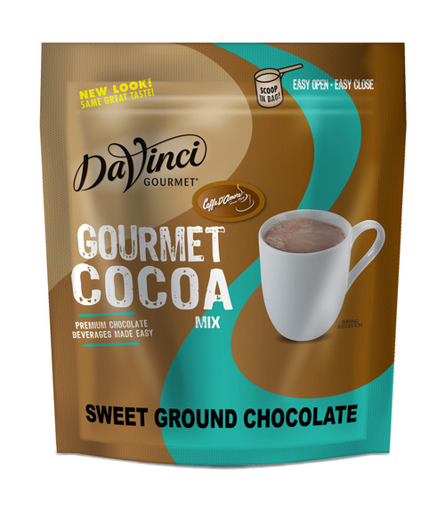 Davinci Gourmet Bellagio Natural Sweet Ground Chocolate - 3 lb. Bulk Bag