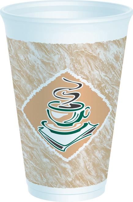 Dart - Espresso Foam Cup, 16oz, 16X16G, 1000/cs