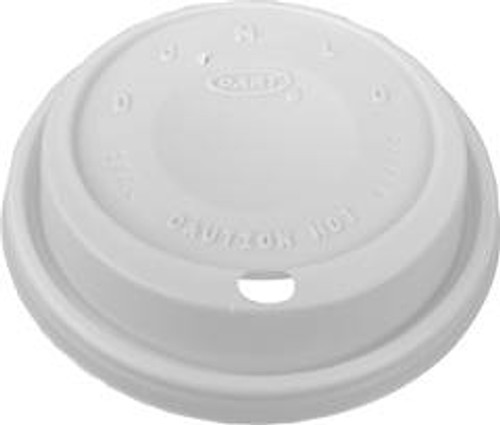 Dart - White Travel Lid for 8oz Cups, 8EL, 1000/cs