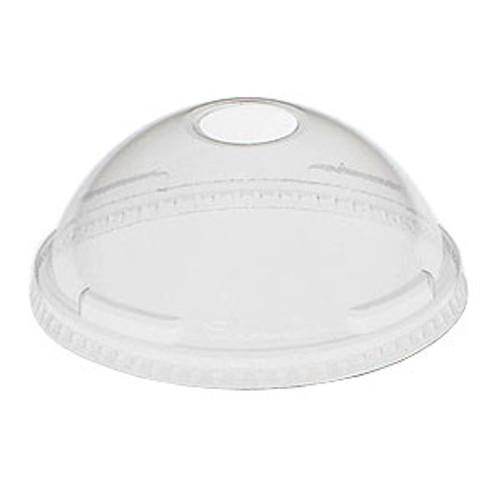 Dart - Dome Lid w\ Hole, Clear, 24LCDH, 1000/cs