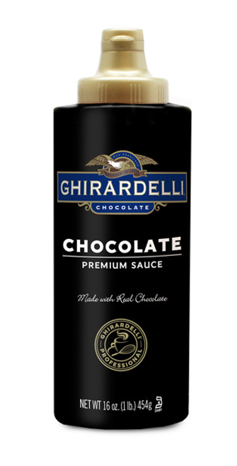 Ghirardelli Black Label Chocolate Sauce - 16 oz. Squeeze Bottle
