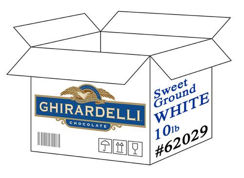 Ghirardelli Sweet Ground White Chocolate Powder - 10 lb. Case