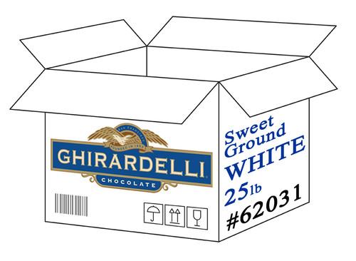 Ghirardelli Sweet Ground White Chocolate Powder - 25 lb. Box