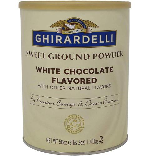 Ghirardelli Sweet Ground White Chocolate Powder - 3.12 lb. Can