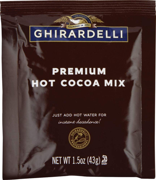 Ghirardelli Premium Indulgence Hot Cocoa: Double Chocolate - Single Serve Packet