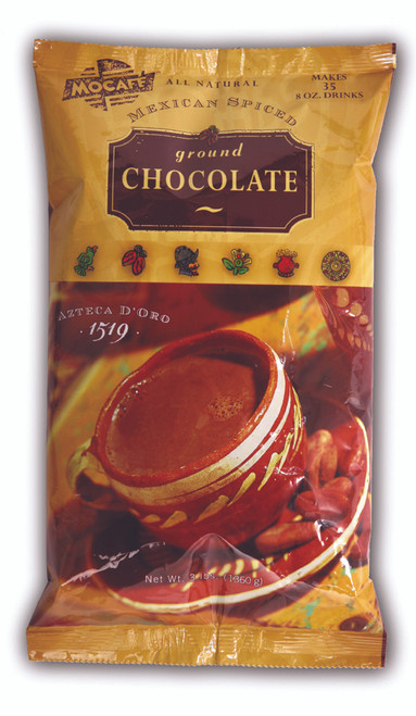 MoCafe - Azteca D'Oro - Mexican Spiced Ground Chocolate - 3 lb. Bag