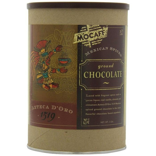MoCafe - Azteca D'Oro - Mexican Spiced Ground Chocolate - 14 oz. Can