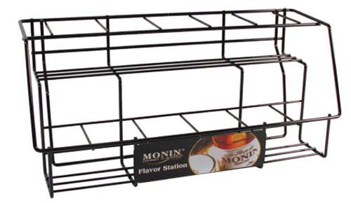 Monin Glass Bottle Display Rack (11 Bottles)