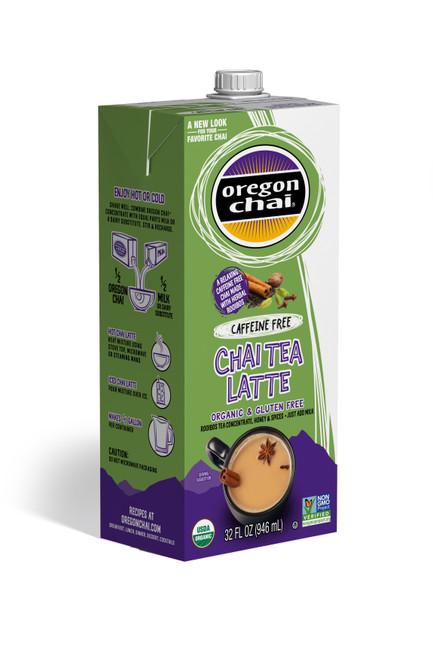 Oregon Organic Chai Tea: Original Caffeine Free - 32 oz. Carton