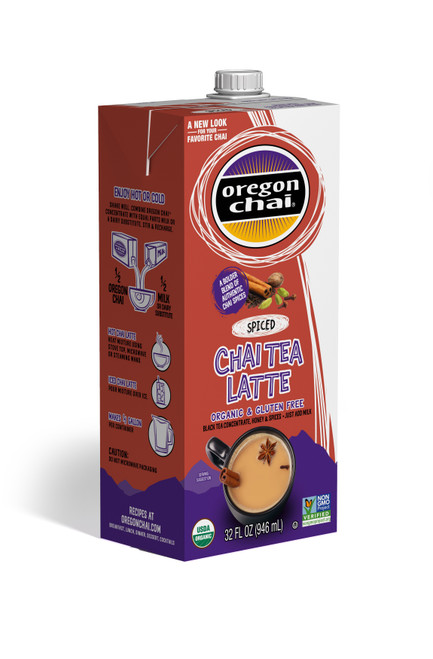 Oregon Chai Liquid: Spiced Organic - 32oz Carton