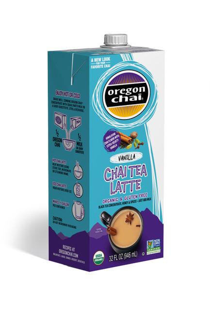 Oregon Organic Chai Tea: Vanilla - 32 oz. Carton Case