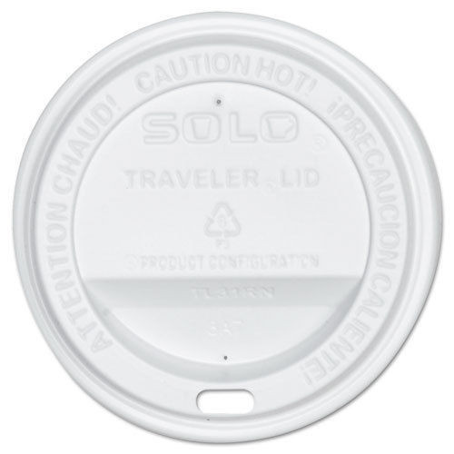 Solo - Travel Lid (White) for 12,16,& 20oz Paper Cups, TLP3160007, 1000/cs