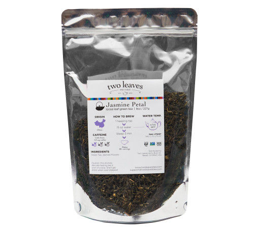 Two Leaves Tea: Jasmine Petal - 1/2 lb. Loose Tea in a Resealable Sleeve