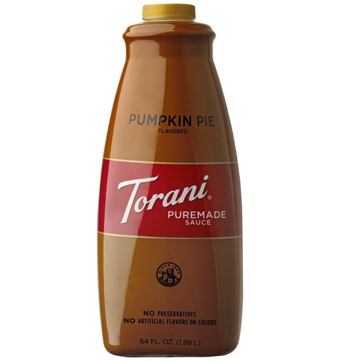 Torani Pumpkin Pie Puremade Sauce - 64 oz. Bottle
