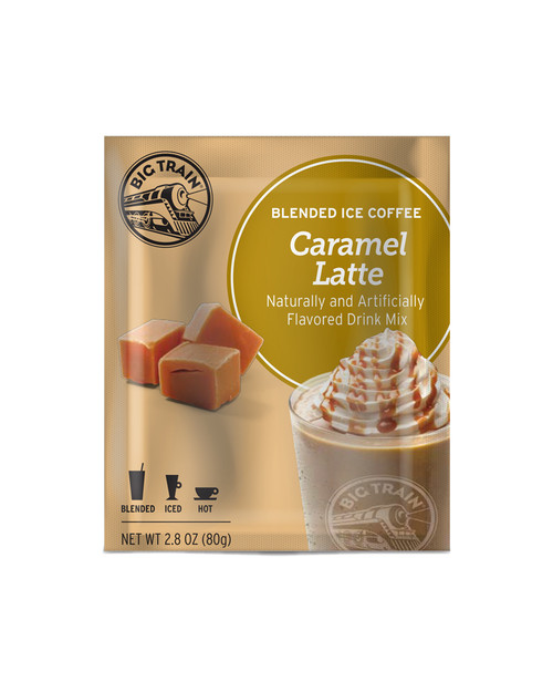 Big Train Blended Ice Coffee -  Single Serve Packet: Caramel Latte