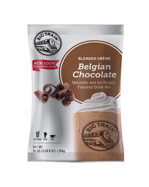 Big Train Blended Ice Creme -  3.5 lb. Bulk Bag: Belgian Chocolate