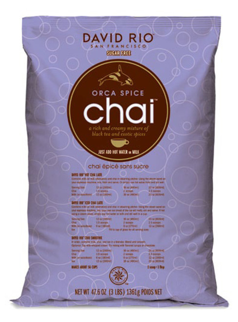 David Rio Chai (Endangered Species) - 4lb Bulk Bag: Orca Spice Sugar Free