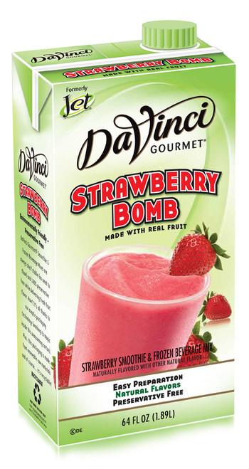 Jet Davinci Real Fruit Smoothies - 64 oz. Carton : Strawberry Bomb