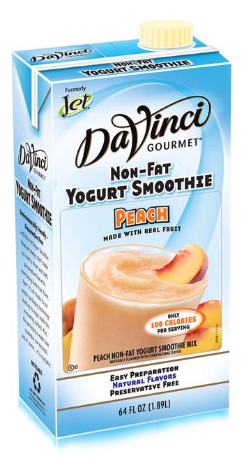 Jet Non-Fat Yogurt Smoothies: 64 oz Carton: Peach Yogurt