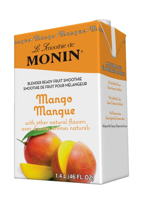 Monin Pour-Over Fruit Smoothies: 46oz Carton: Mango