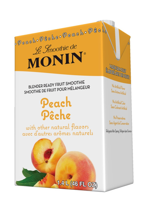 Monin Pour-Over Fruit Smoothies: 46oz Carton: Peach