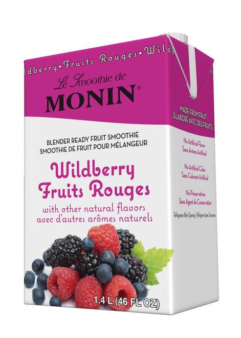 Monin Pour-Over Fruit Smoothies (Tropical): 46oz Carton: Wildberry
