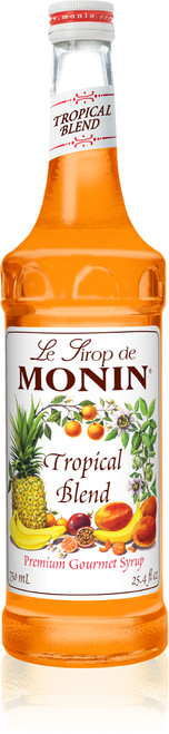Monin Classic Flavored Syrups - 750 ml. Glass Bottle: Tropical Blend