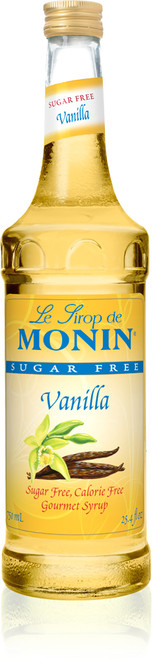 Monin  Sugar Free Flavored Syrups - 750 ml. Glass Bottle: Vanilla (Sugar Free)