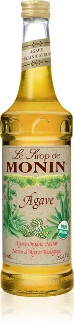 Monin Organic Flavored Syrups - 750 ml. Glass Bottle: Agave (Organic)