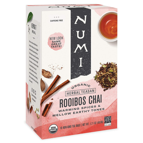 Numi Tea - Box of 18 Single Serve Packets: Rooibos Chai