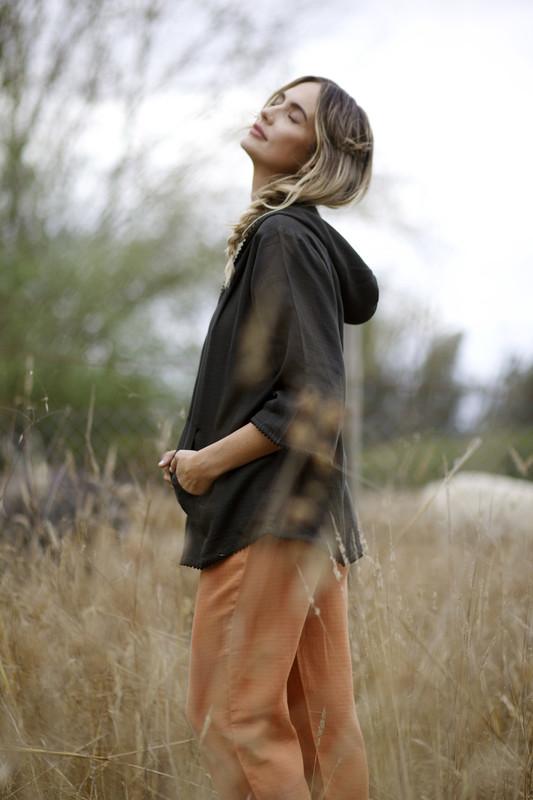 Marci Hoodie | Black HAZEL MOON