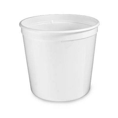 80 oz. Food Grade Round Containers (T61080) - 225 count - case - White and Translucent