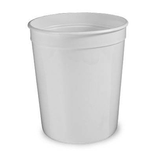 80 oz. Food Grade Round Containers (T51380) - 240 count - case - White
