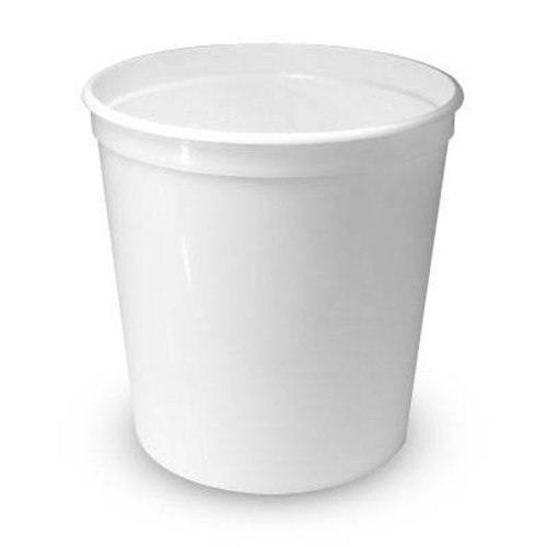 80 oz. Food Grade Food Line Squat Round Containers (T60380FL) - 250 count - case - White