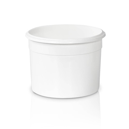 69 oz. Food Grade Flex-off Round Plastic Container (T61069FXCP) - White - 140 count - case