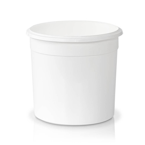 86 oz. Food Grade Flex-off Round Plastic Container (T61086FXCP) - White or Clarified - 130 count - case