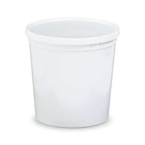 2/3 Gallon (85 oz.) BPA Free Food Grade Round Container with Lid (T60785CP) - starting quantity 25 count - FREE SHIPPING