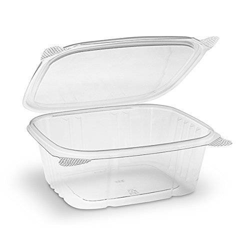 32 oz. BPA Free Food Grade Clarified Hinged Container with Lid