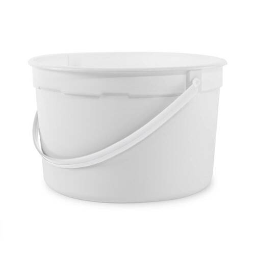 1 gal. BPA Free Food Grade Round Bucket with White Handle (T808128B) - 120 count - case